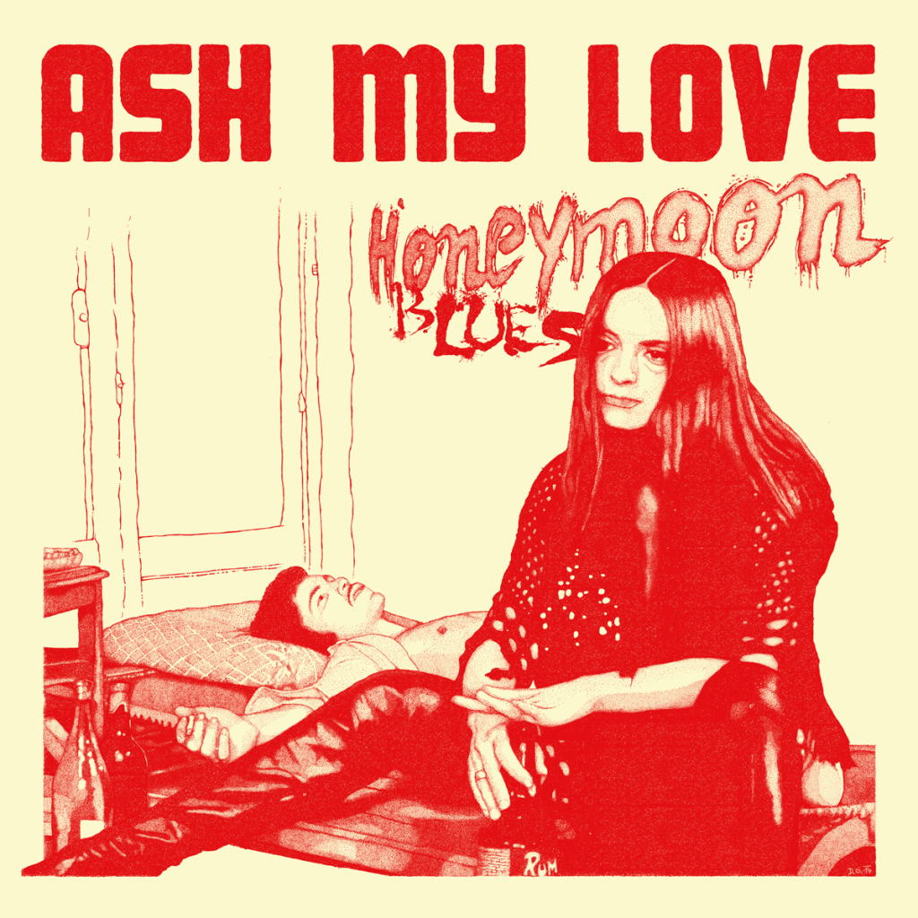 Ash My Love Band Honeymoon Blues Album Vinyl Cover Artwork