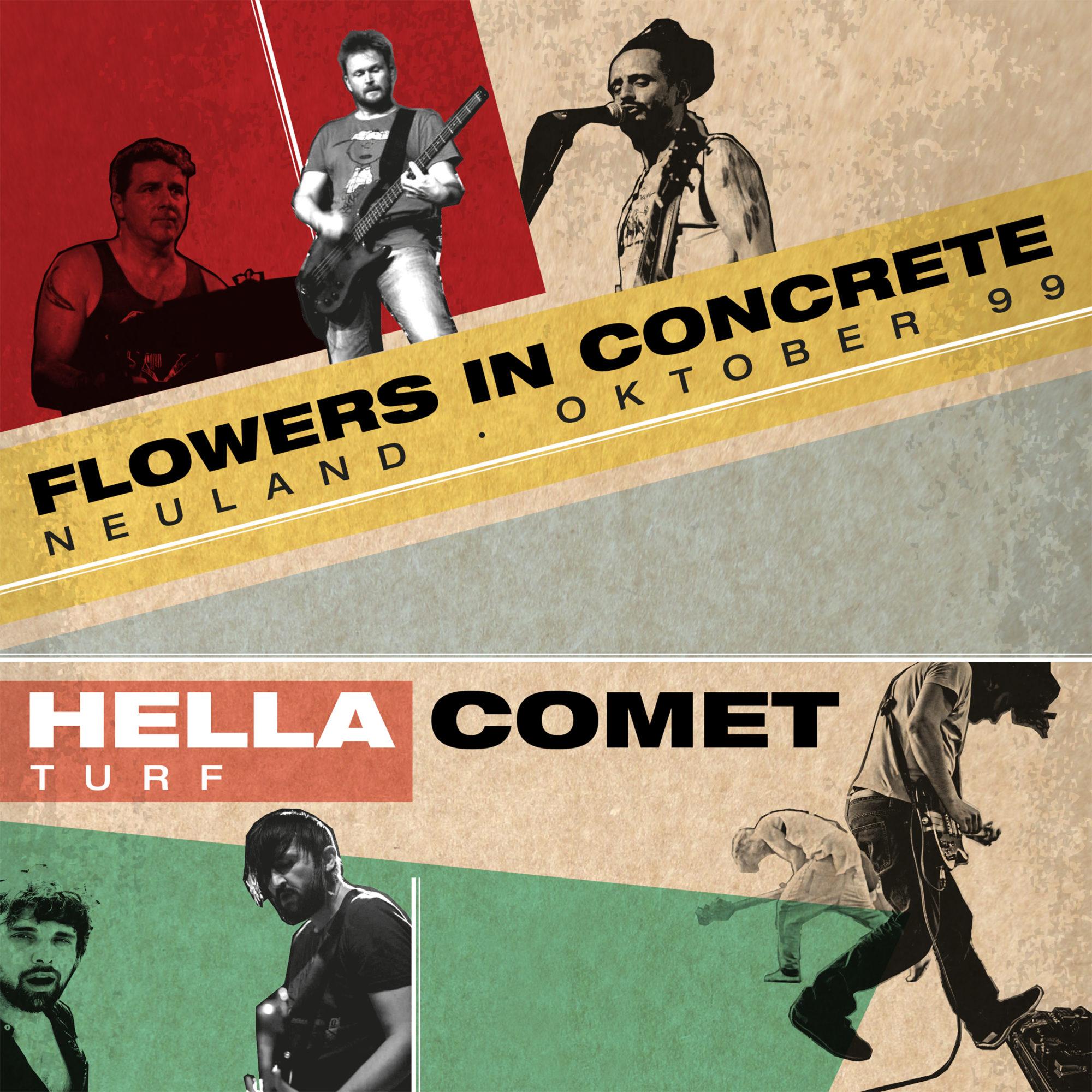 Flowers in Concrete Band Hella Comet Band Artwork Split Vinyl Single Austria
