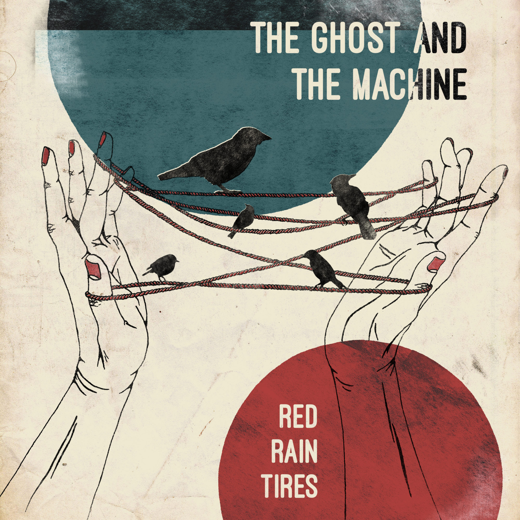 The Ghost and the Machine Band Red Rain Tires Album Artwork